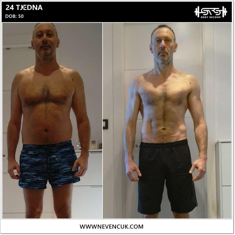 Recomp program treninga za muškarce i gubitak masnog tkiva